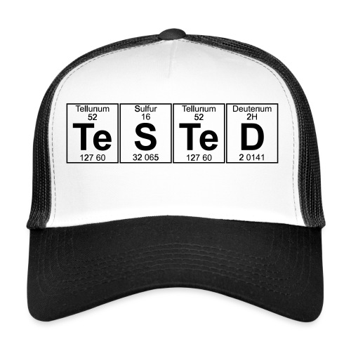 Te-S-Te-D (tested) (small) - Trucker Cap