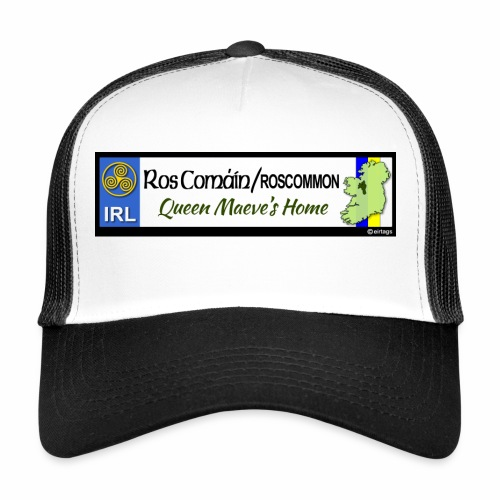 ROSCOMMON, IRELAND: licence plate tag style decal - Trucker Cap
