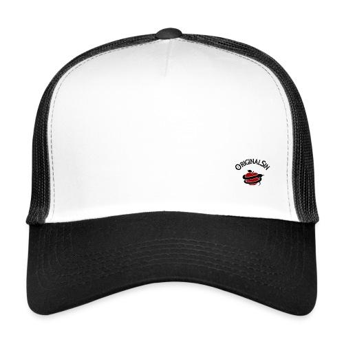 negro rojo - Gorra de camionero