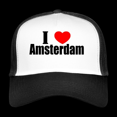 Me encanta Amsterdam - Gorra de camionero