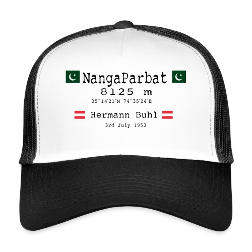 NangaPArbat20-01Black - Trucker Cap