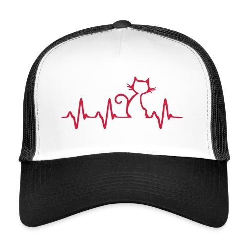 Vorschau: Cat Heartbeat - Trucker Cap