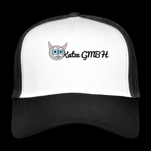 Katze GMBH Logo mit Schriftzug (Schwarz auf weiss) - Trucker Cap