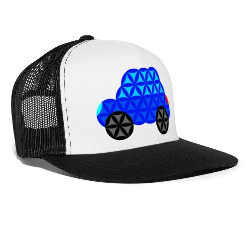 The Car Of Life - M01, Sacred Shapes, Blue/R01. - Trucker Cap