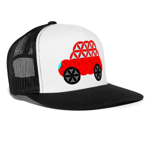 The Car Of Life - M01, Sacred Shapes, Red/R01. - Trucker Cap