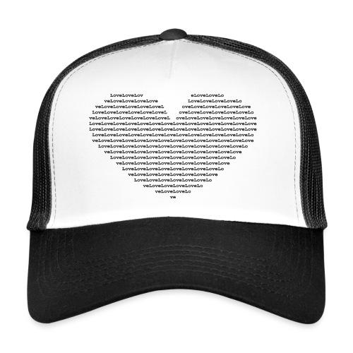Isle of black Ascii Heart - Trucker Cap