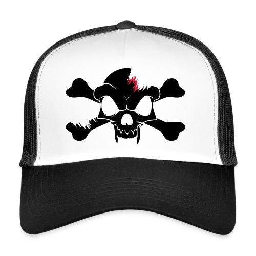 SKULL N CROSS BONES.svg - Trucker Cap