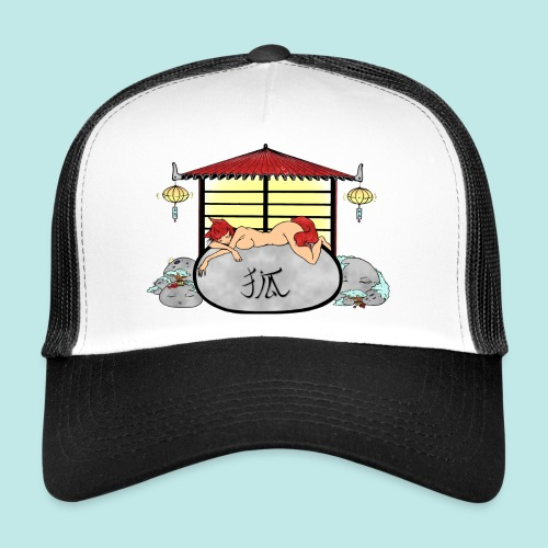 Déesse renard Inari jardin zen temple japonais - Trucker Cap
