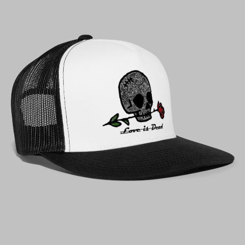 Love Is Dead Custom Skull Design - Trucker Cap