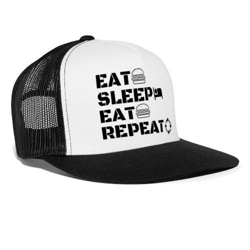 eat sleep eat repeat - Trucker Cap