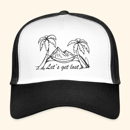 Weltreise T´Shirt - Let´s get lost - Trucker Cap