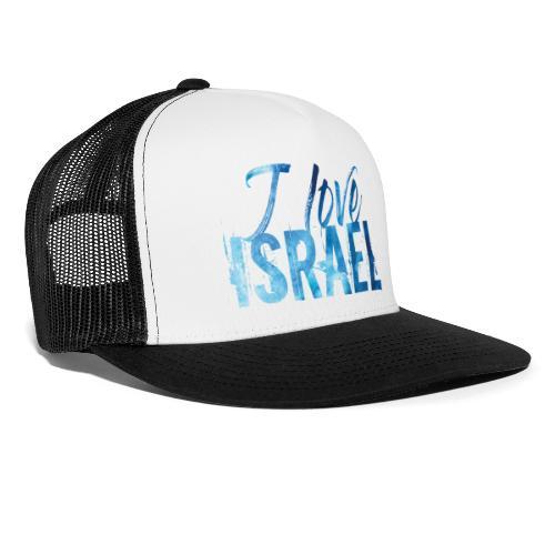 Blauer Schriftzug I Love Israel - Trucker Cap