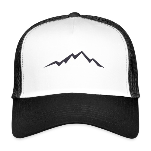 swiss alps clipart sihllouette ski mountains - Trucker Cap