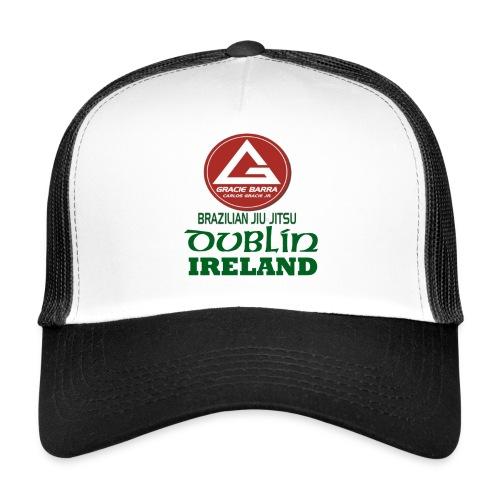Gracie Barra Dublin Gaelic Celtic Font PNG - Trucker Cap