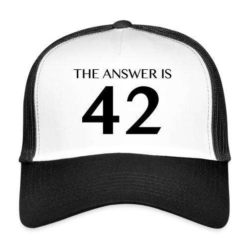 The Answer is 42 Black - Trucker Cap