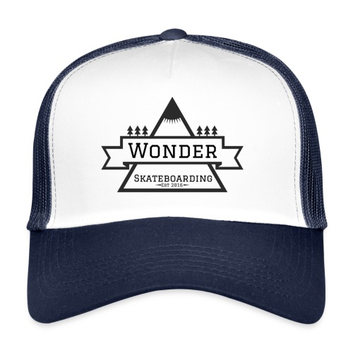 Wonder hoodie no hat - Mountain logo - Trucker Cap