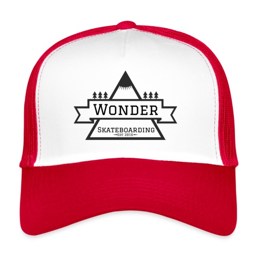 Wonder hoodie no hat - Mountain logo - Trucker Cap
