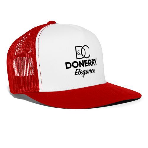 Donerry Elegance Black Logo on White - Trucker Cap