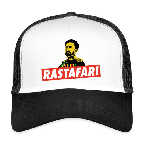 Rastafari - Haile Selassie - HIM - Jah Rastafara - Trucker Cap
