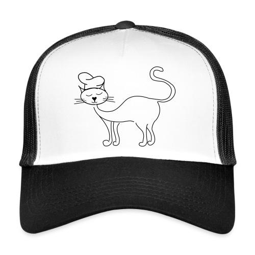 Katze mit Kochmütze - Trucker Cap