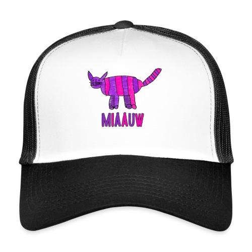 miaauw, paarse poes - Trucker Cap