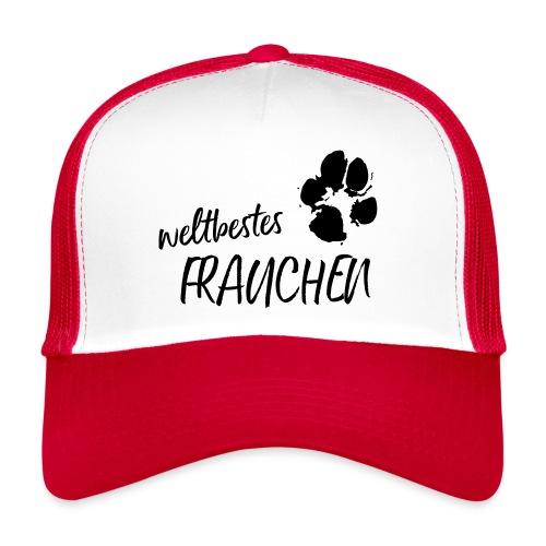 Vorschau: weltbestes Frauchen Pfote Hund - Trucker Cap