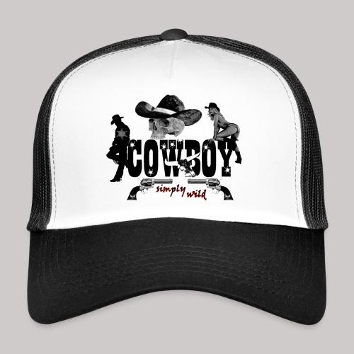 simply wild Cowboy on white - Trucker Cap