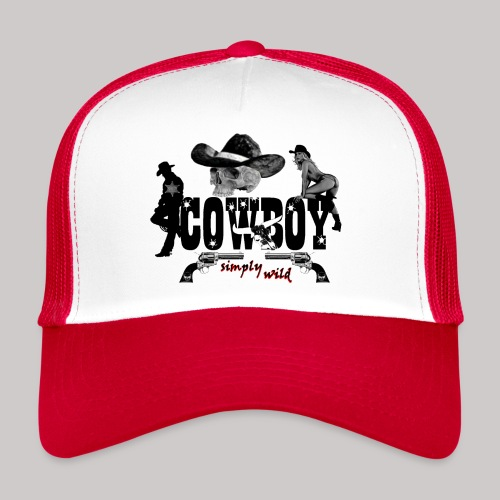 simply wild Cowboy on white - Trucker Cap