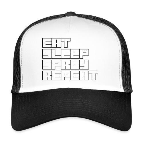 EATSLEEPSPRAYREPEAT - Trucker Cap