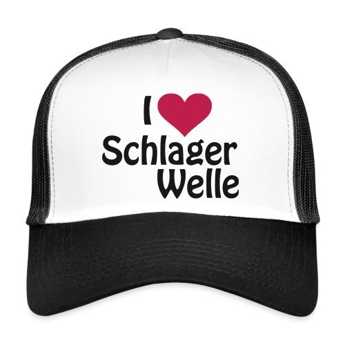I love Schlagerwelle - Logo in Schwarz - Trucker Cap