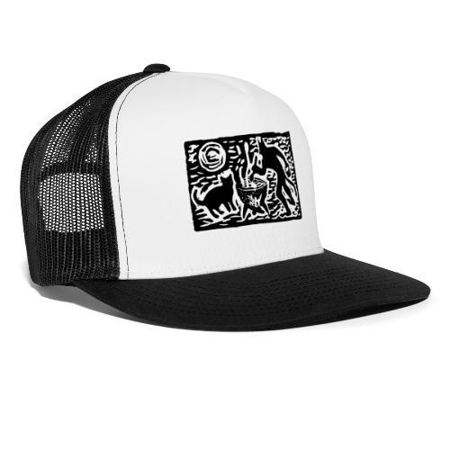 Teufel mit Katze - Trucker Cap