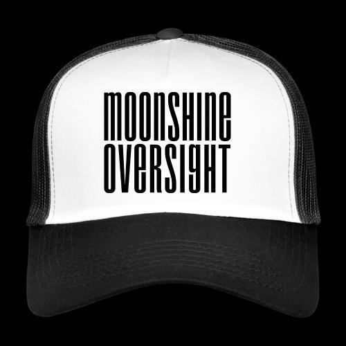 Moonshine Oversight noir - Trucker Cap