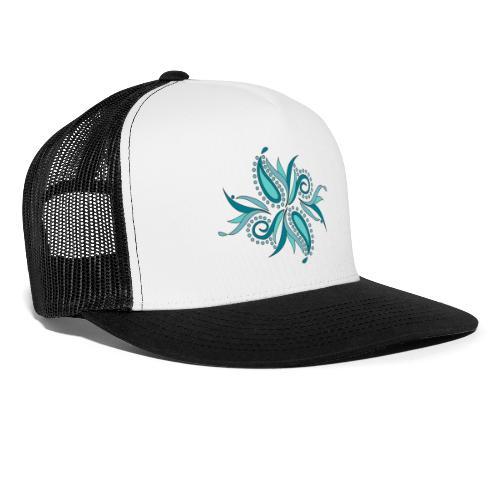 petali e foglie astratte - Trucker Cap