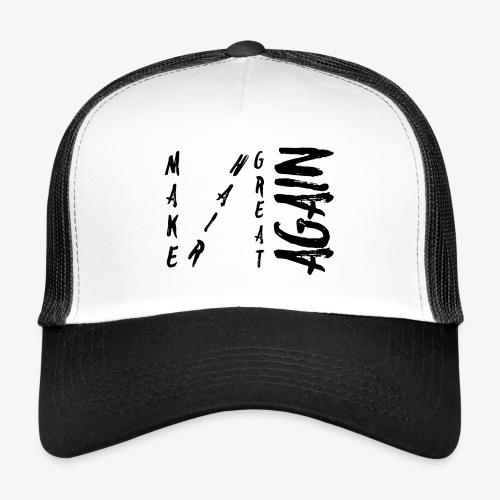 MHGA Diagonal BLACK Logo - Trucker Cap