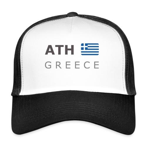 ATH GREECE dark-lettered 400 dpi - Trucker Cap