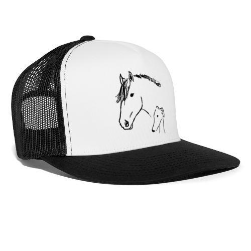 Windhund und Pferd - Trucker Cap