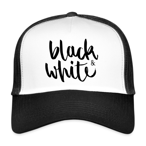 black&white1 - Trucker Cap