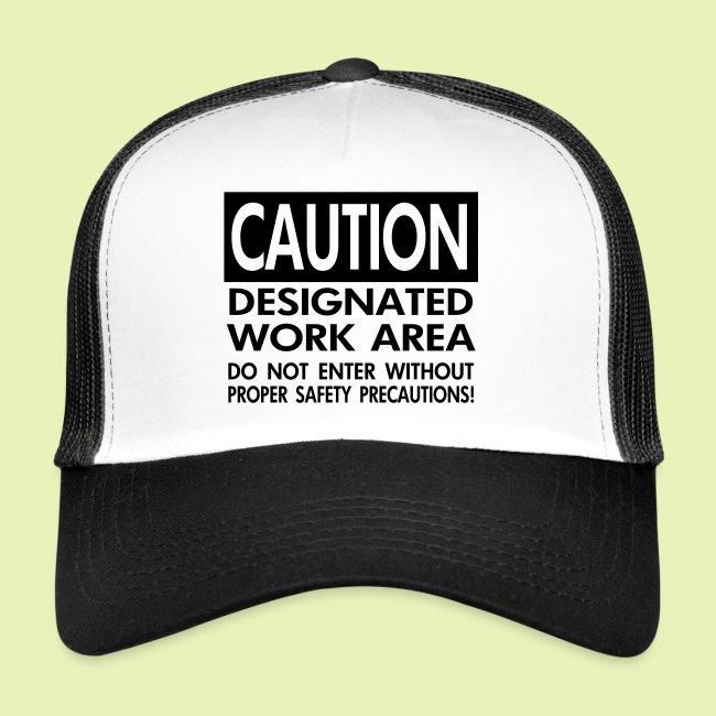 Caution work area