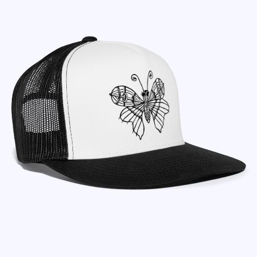 Schmetterling schwarz - Trucker Cap