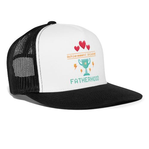 Achievement Unlocked Fatherhood Papa Spruch - Trucker Cap