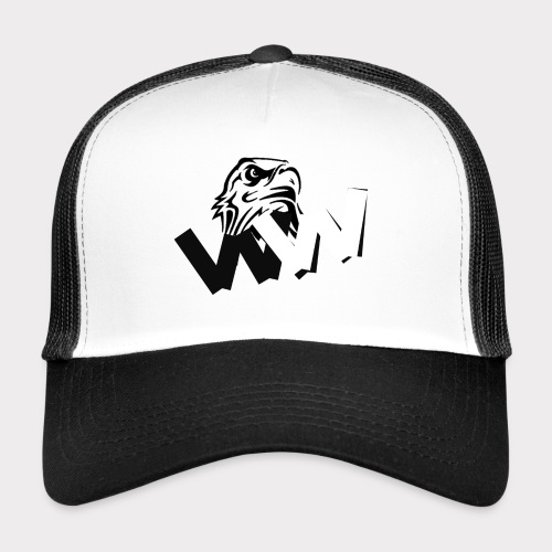 White and Black W with eagle - Trucker Cap