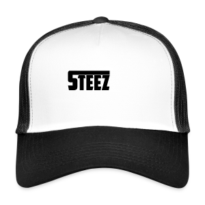 steez Logo white - Trucker Cap