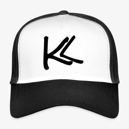 Kirbs vlogs logo black - Trucker Cap