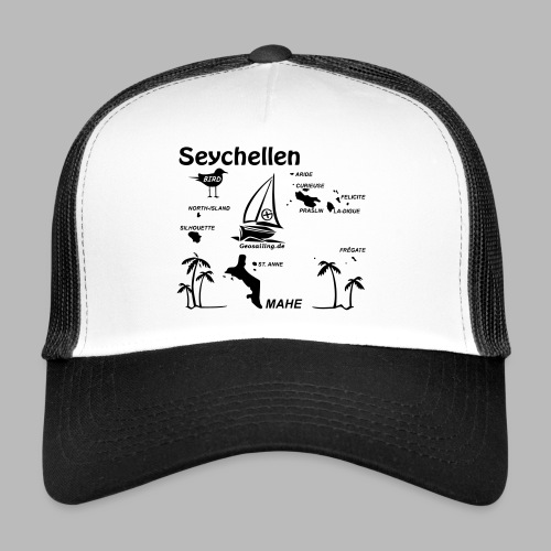 Seychellen Insel Crewshirt Mahe etc. - Trucker Cap