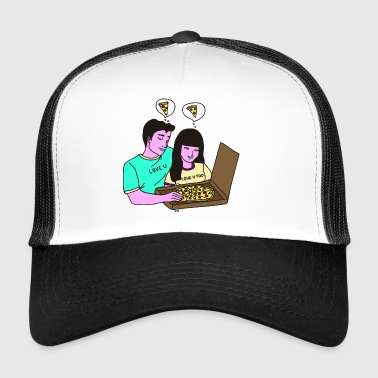 love_pizza2 - Trucker Cap