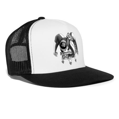 La Catrina Bajorette - Black & White - Trucker Cap