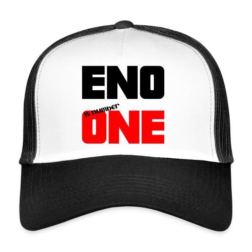 eno is number one - retro / musta - Trucker Cap