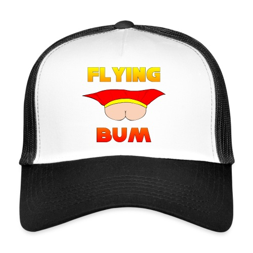 Flying Bum (face on) with text - Trucker Cap