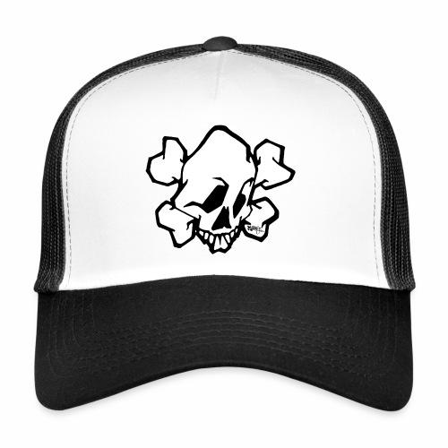 skull white ver01 fresh 86 √ - Trucker Cap
