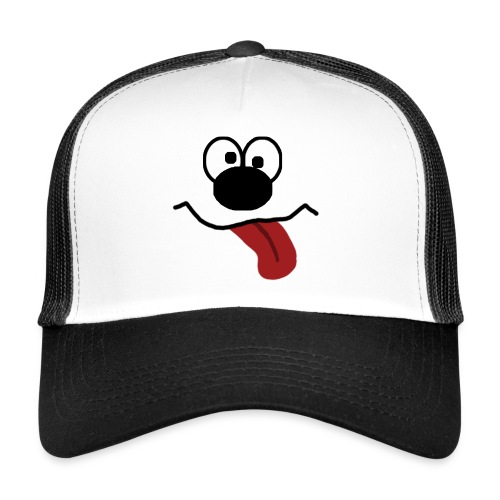 Funny Cartoon Face dunk tongue sticking out - Trucker Cap